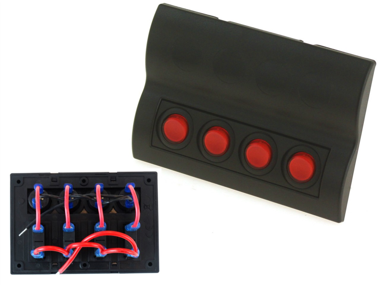 Przełączniki 12/24V IP68 ON-OFFx4, 4xB 2x5A 1x10A 1x15A, LED IP68 - GRUBYGARAGE - Sklep Tuningowy